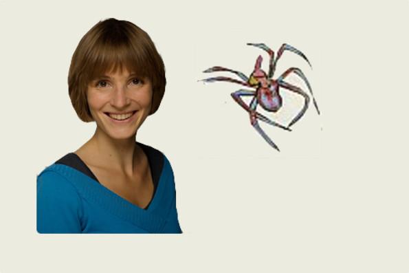 Rahel Wohlgensinger spielt die eklige Spinne